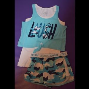 Camo Crop Top and Shorts | Kids' Shoes | Girls